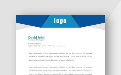 Creative Blue Letterhead - Corporate Identity Template