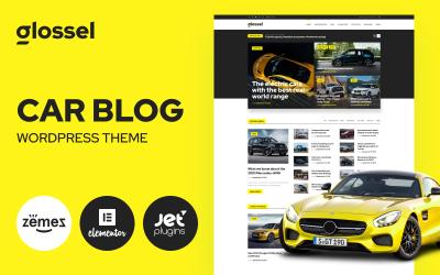 Glossel - Autóblog webhelysablon WordPress Elementor téma alapján
