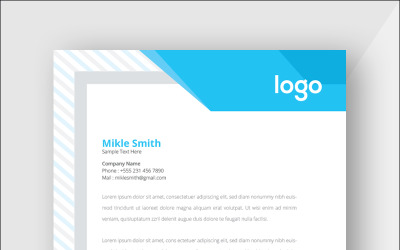 Minimal Cyan Colour Letterhead - Corporate Identity Template