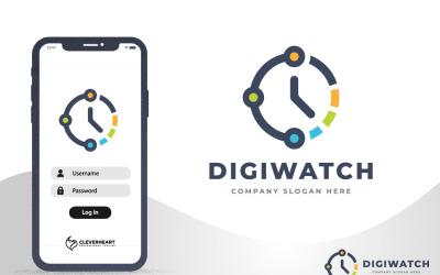 Smart Digital Watch - Data Time Technology Logo Design