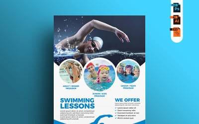 Swimming Lessons Flyer - Corporate Identity Template
