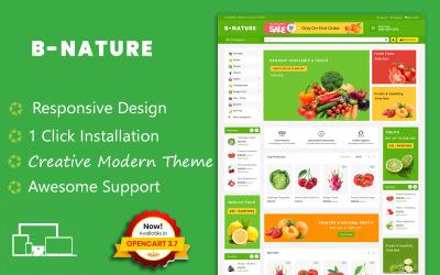 B Natur Bio Obst & Gemüse OpenCart Vorlage