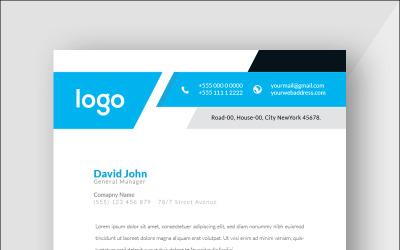 Blue and Black Letterhead - Corporate Identity Template