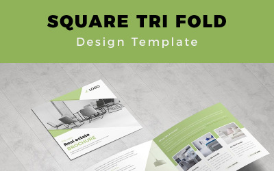 Bispfors Real Estate Square Trifold Brochure - Corporate Identity Template