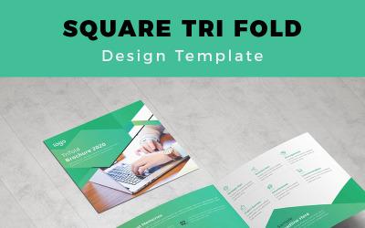 Pulver Real Estate Square Trifold Brochure - Corporate Identity Template