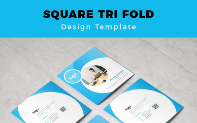 Salute Square Tri fold Brochure - Corporate Identity Template