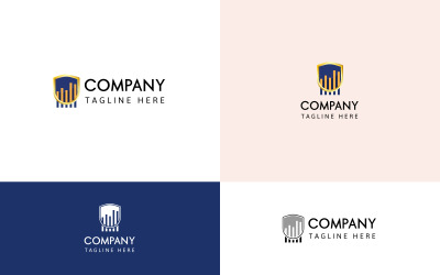 Financial Security Logo Template
