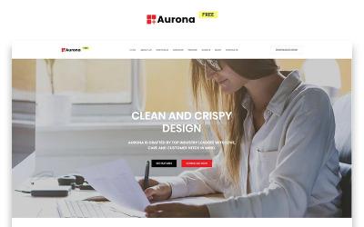 Aurona - Modello di pagina di destinazione HTML pulito e gratuito per affari
