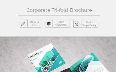 Herblet Square Trifold Company Profile - Corporate Identity Template
