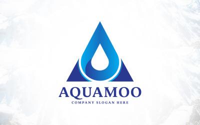Letter A Water Drop - Blue Aqua Logo Design