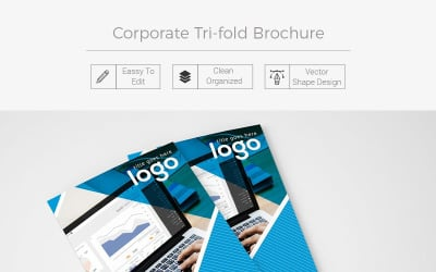Salute Tri-fold Brochure Design - Corporate Identity Template