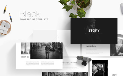 Black Presentation PowerPoint Template