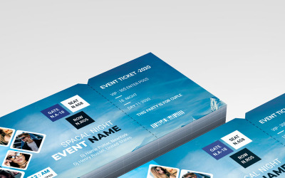 Blue Colours - Night Event Ticket - Corporate Identity Template