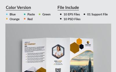 Jasmin Business Tri-Fold Brochure - Corporate Identity Template