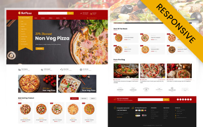 Hot Pizza Store OpenCart Template