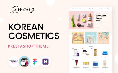 Gwang - Korean Cosmetics Ecommerce Templates PrestaShop Theme