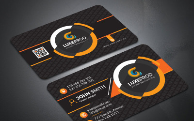 John Smith Simple & Modern Business Card - Corporate Identity Template