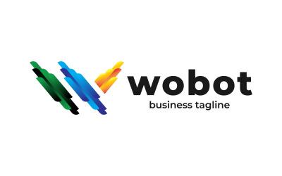 Robotic Brand W Letter Website Logo Design