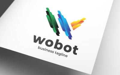 Robotic Letter W Website Logo Template