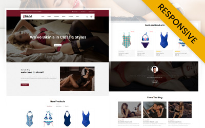 Biquíni - modelo OpenCart de loja de lingerie