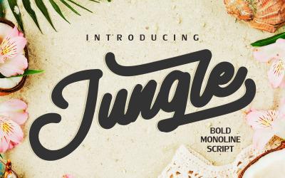 Jungle | Monoline Bold Cursive Font