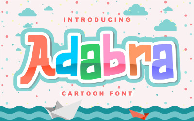 Adabra   Decorative Cartoon Font