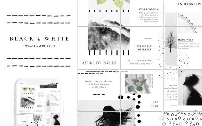 Black & White - Instagram Puzzle Social Media Template