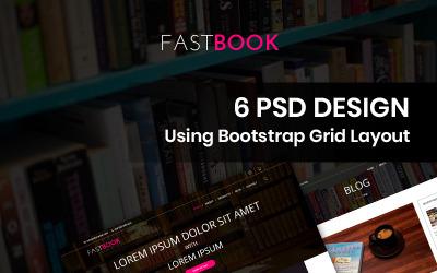 Fastbook - Könyvesbolt PSD sablon