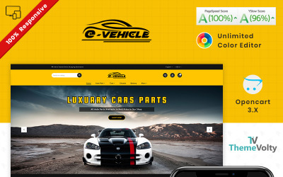 E Vehicle Auto Part Tools Shop OpenCart Template