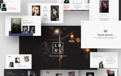 Творча презентація Lulu - основний шаблон