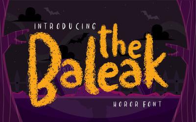The baleak | Decorative Horror Font
