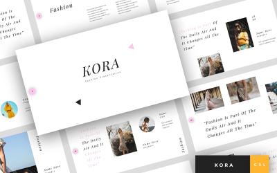 Kora - Fashion Presentation Google Slides