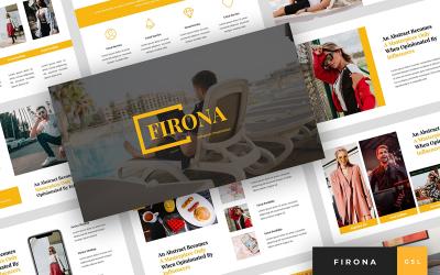 Firona - Influencer Presentation Google Slides