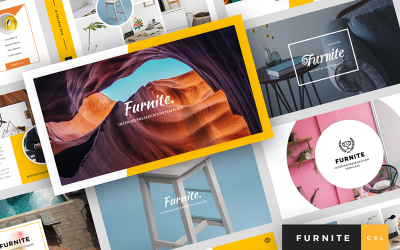 Furnite - Apresentação de design de interiores Google Slides