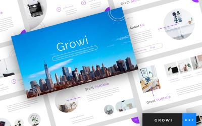 Growi - Business Presentation - Keynote template
