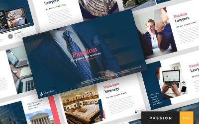 Passion - Lawyer Presentation Google Slides