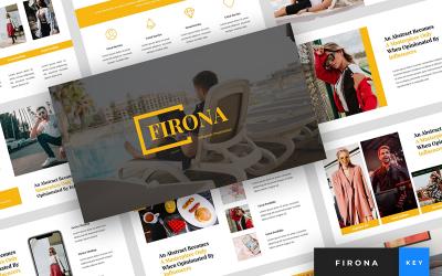 Firona - Influencer Presentation - Keynote template
