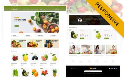Organic Fruits Store OpenCart Template