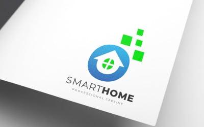 Digital Smart Home Logo Template