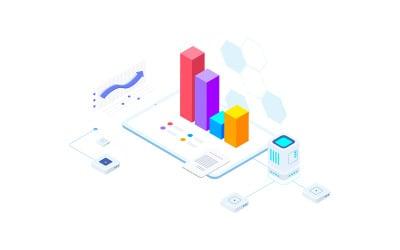 Financial Report on Blockchain Isometric 6 - FV - Illustration