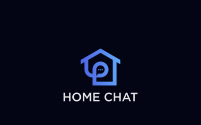 Home Chat Design Logo Template