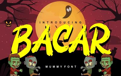 Bacar | Hallowen Theme Font
