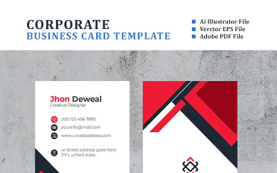 Deweal Vertical Business Card - Corporate Identity Template