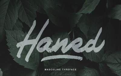 Haned   Masculine Typeface Font