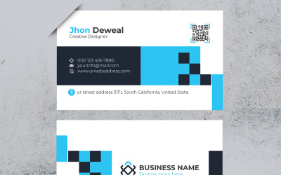 Official Minimal Business Card - Corporate Identity Template