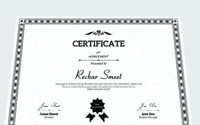 Rechar Achievement Certificate Template