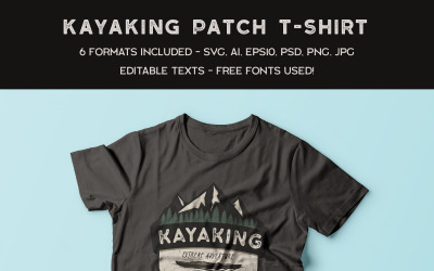 Camping Adventure - Kayaking - T-shirt Design