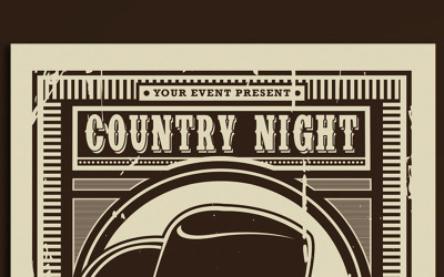 Country Music Night Flyer - Corporate Identity Template