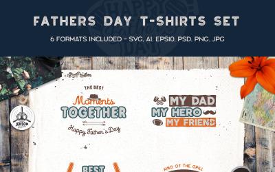 Babalar Günü Retro Baskılar - Tişört Tasarımı