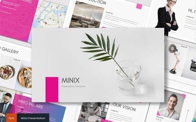 Minix PowerPoint sablon
